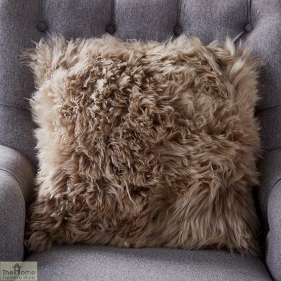 Light Brown Sheepskin Cushion_1