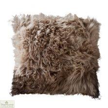 Light Brown Sheepskin Cushion