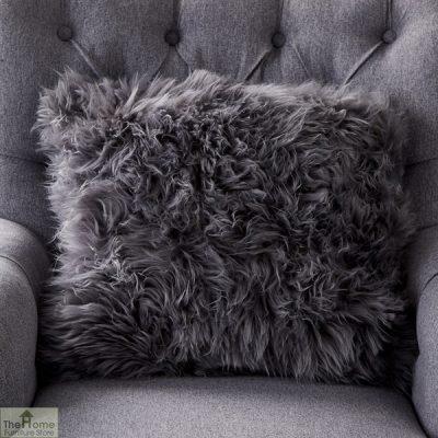 Grey Sheepskin Cushion_1