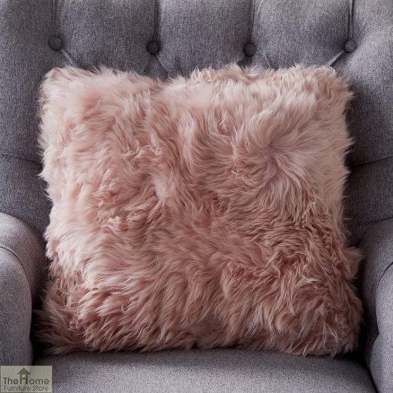Blush Pink Sheepskin Cushion_1