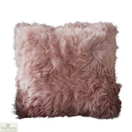 Blush Pink Sheepskin Cushion