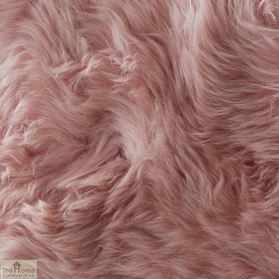 Blush Pink Sheepskin Cushion_2