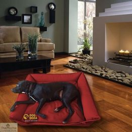 Red Waterproof Dog Sofa Bed_1
