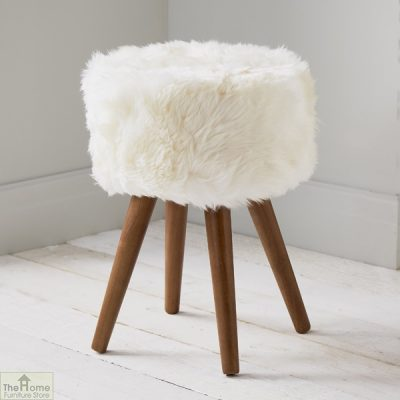 Natural Sheepskin Stool_1