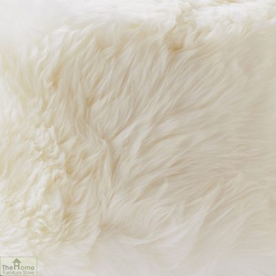 Natural Sheepskin Stool_2
