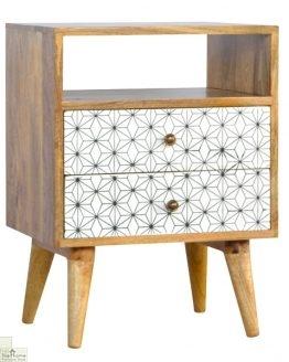 Geometric Print Bedside Unit_1