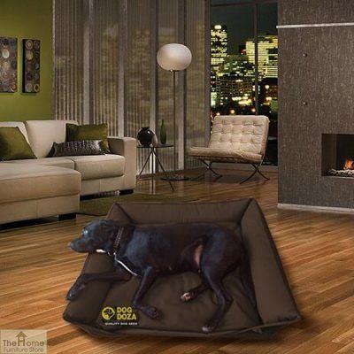 brown waterproof dog sofa bed_1