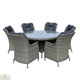 Casamoré Corfu Woodash 6 Seater Round Dining Set_1