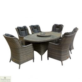 Casamoré Corfu Woodash 6 Seater Oval Dining Set