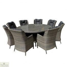Casamoré Corfu Woodash 8 Seater Round Dining Set