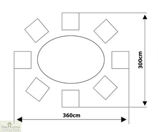 Casamoré Corfu Woodash 8 Seater Oval Dining Set_15
