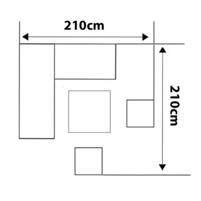Casamoré Corfu Woodash Petite Height Adjustable Corner Dining Set_20