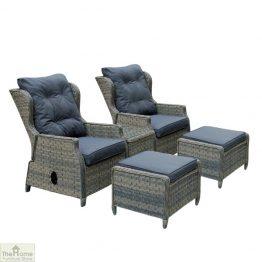Casamoré Corfu Woodash Reclining Armchair Set