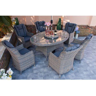 Casamoré Corfu Woodash 6 Seater Oval Dining Set_3