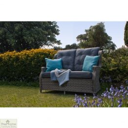 Grey Garden Furniture 2 Seater Sofa
