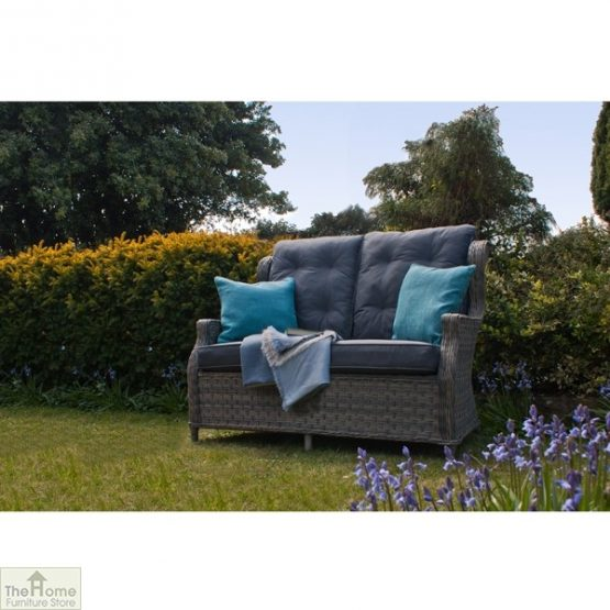 Grey Garden Furniture 2 Seater Sofa