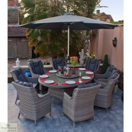 Casamoré Corfu Woodash 8 Seater Oval Dining Set