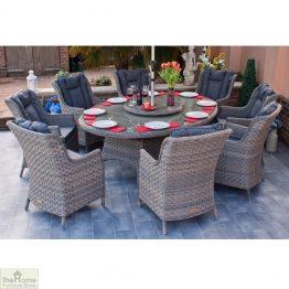 Casamoré Corfu Woodash 8 Seater Oval Dining Set