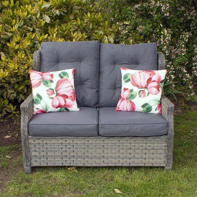 Grey Garden Reclining 2 Seater Sofa_3