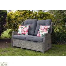 Grey Garden Reclining 2 Seater Sofa