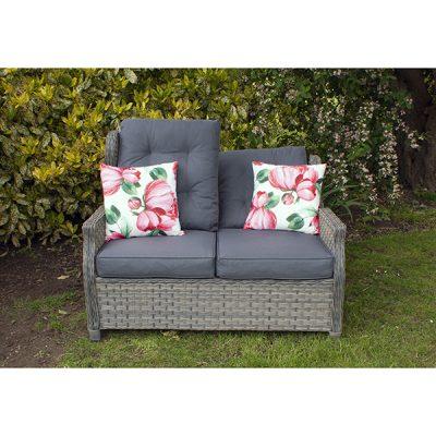 Grey Garden Reclining 2 Seater Sofa_1