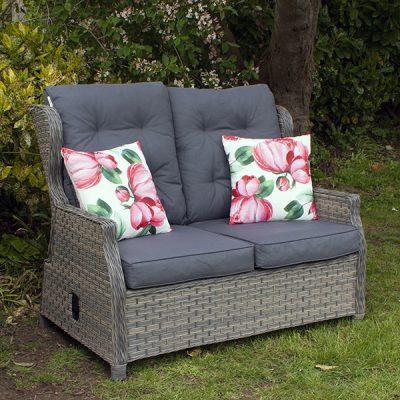 Grey Garden Reclining 2 Seater Sofa_6