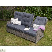 Casamoré Corfu Woodash Reclining 3 Seater Sofa