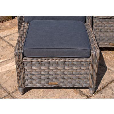 Grey Garden Furniture Reclining Armchair Set_9