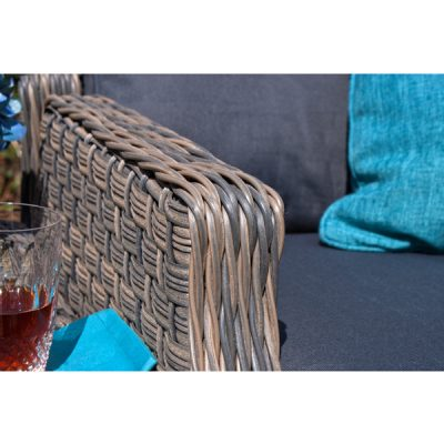 Grey Garden Furniture Reclining Armchair Set_13