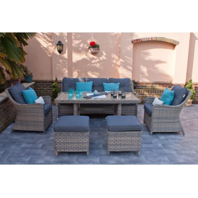 Casamoré Corfu Woodash Rectangular Sofa Dining Set_1