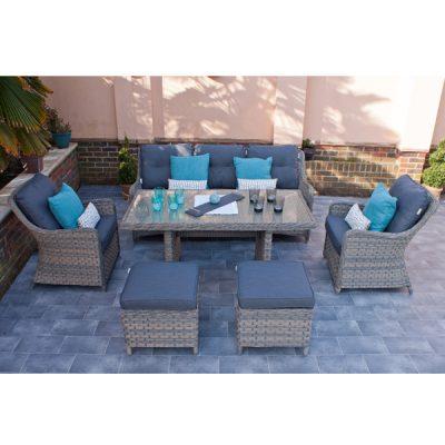 Casamoré Corfu Woodash Rectangular Sofa Dining Set_2