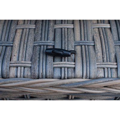 Grey Garden Furniture Reclining Armchair Set_17