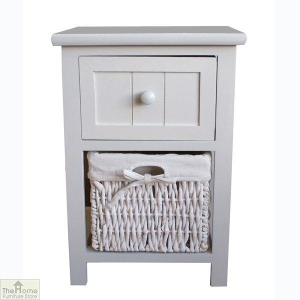 Casamoré Whitehaven 1 Drawer 1 Basket Unit