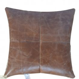 Leather Square Cushion