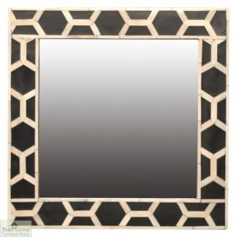 Patterned Square Mirror