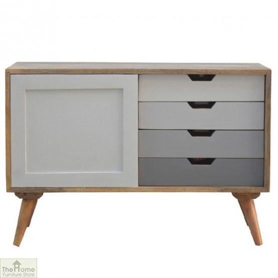 Winchester Grey Sliding 4 Drawer Cabinet