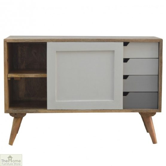 Winchester Grey Sliding 4 Drawer Cabinet_2