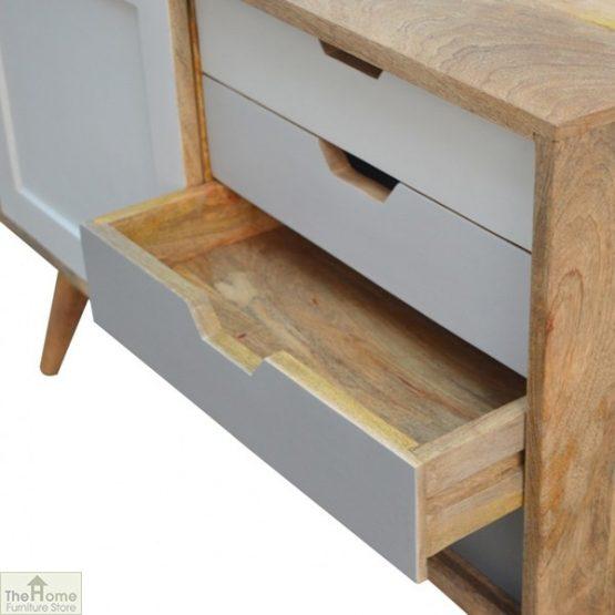 Winchester Grey Sliding 4 Drawer Cabinet_5