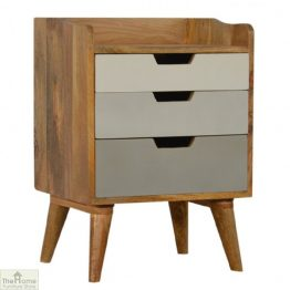 Winchester Grey 3 Drawer Bedside Table_1