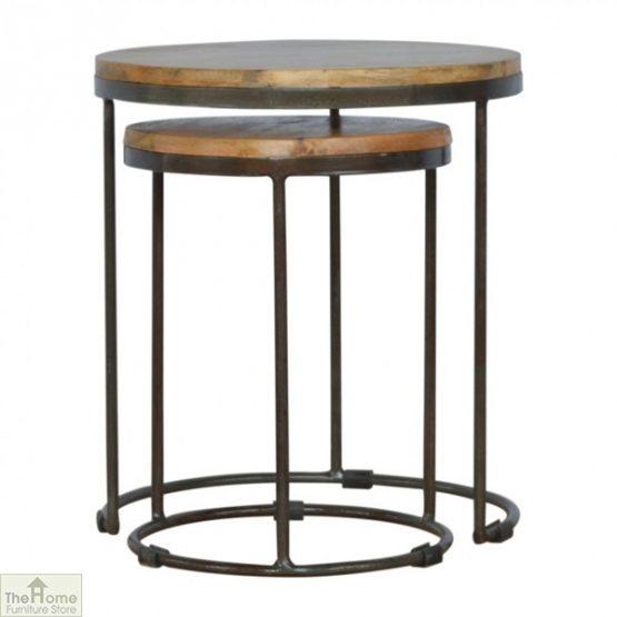 Iron Base 2 Nesting Table Set