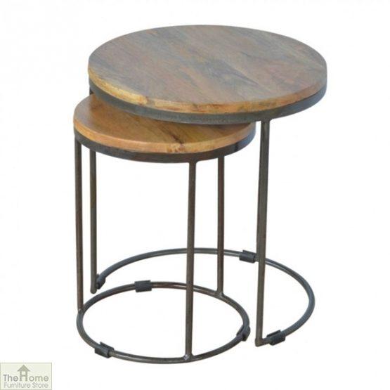 Iron Base 2 Nesting Table Set_2