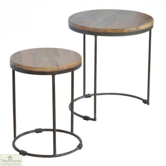 Iron Base 2 Nesting Table Set_5