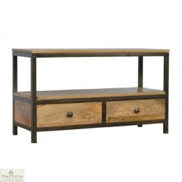 Iron Base 2 Drawer Coffee Table_1