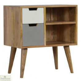 Winchester Grey 2 Drawer 2 Shelf Cabinet_1