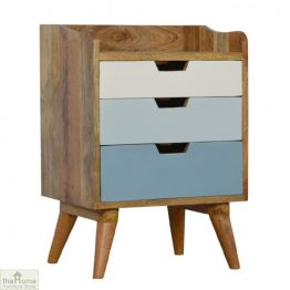 Winchester Blue 3 Drawer Bedside Table_1