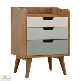 Winchester Green 3 Drawer Bedside Table_1
