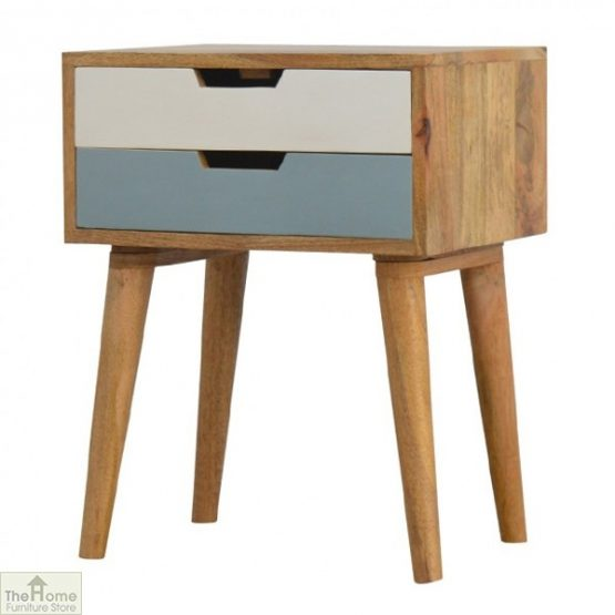Winchester Blue 2 Drawer Bedside Table_2