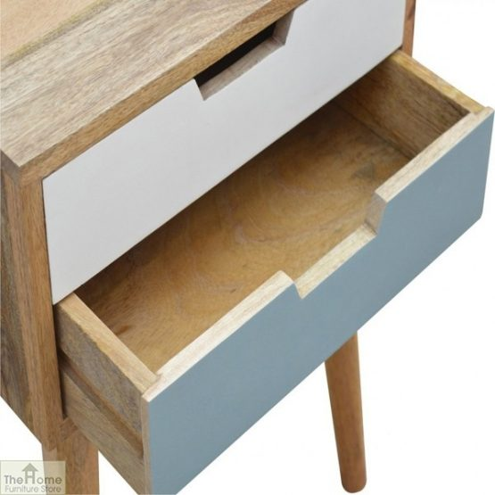 Winchester Blue 2 Drawer Bedside Table_6