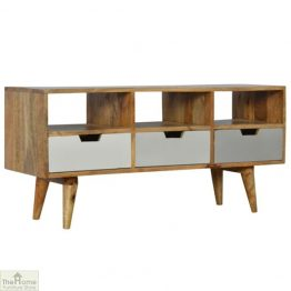 Winchester Grey 3 Drawer 3 Shelf TV Unit_1