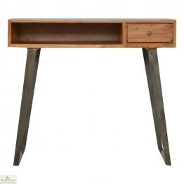Iron Base 1 Drawer Writing Desk